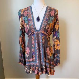 Free People Violet Hill Ruffle Tunic Dress Size 6